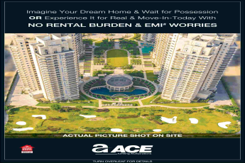Get EMI holiday till 2020 by booking home at Ace Signature Resort Towers in Sector 150, Noida
